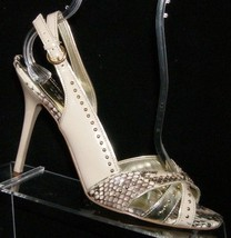 Guess 'Adesnia' multi-colored snake print studded buckle slingback heels 7.5M - $31.47