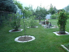 4 Curved Garden Edging Lawn Landscape Molds Make Concrete Tree Circles or Walls image 4