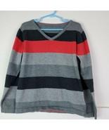 KID 1234 Boys Striped Sweater 100% Cotton School Uniform Colors Red Blue... - $19.78
