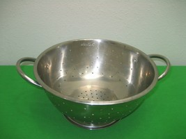 Chef Mate Stainless Steel Kitchen Colander with Handles - $12.16