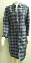 Vintage Liz Claiborne Collection Woman's 100% Silk Check Coat Dress Size 10 - $55.39