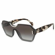 Prada Single Lens Sunglasses PR15TS VIP0A7 48MM Translucent Grey Brown Havana - $166.50