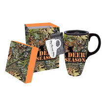 Deer Season Camo Mossy Oak Ceramic Coffee Trave... - $11.87