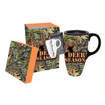 Deer Season Camo Mossy Oak Ceramic Coffee Trave... - $11.87