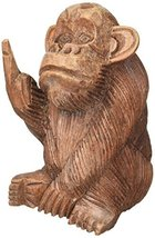 Things2Die4 Hand Carved Mahogany Rude Monkey Flipping Bird Statue 6 In. - $24.69
