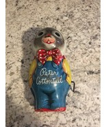 MATTEL Vintage PETER COTTONTAIL Tin BUNNY Toy Metal Easter Rabbit - $9.85