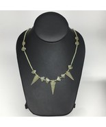 "14.3g,2mm-30mm, Small Green Nephrite Jade Arrowhead Beaded Necklace,19"",... - $4.75"