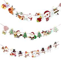 Wall Hanging Drop Ornaments Snowman/Socks/House/Santa Claus Flag Banner Pendant - $2.59+