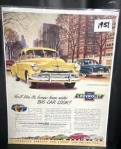 1951 CHEVROLET Styleline De Luxe 4-door Sedan Yellow Car Vintage PRINT AD - $12.86