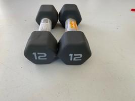 CAP 12 lb Hex Neoprene Dumbbell Set of 2 Brand New Free Shipping  - $72.95