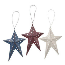 Darice Patriotic Folk Art Star Decoration: 8 inches, 3 Assorted Colors w - $7.99