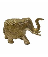 Trunk Up Elephant Brass Statues Showpiece Metal Statue - £17.37 GBP