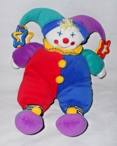 Little Kids Preferred Clown Doll Plush Stuffed Toy Primary Colors Plasti... - $29.58