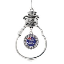 Inspired Silver Proud to be Australian Circle Snowman Holiday Christmas Tree Orn - $14.69