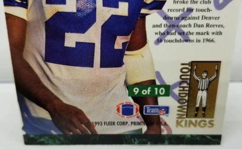 1993 EMMITT SMITH Fleer Ultra TOUCHDOWN KINGS #9 Dallas Cowboys Football Card-NM