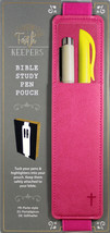 Faith Keepers Bible Study Pen Pouch PINK NEW Leather PU Elastic For Flex... - $13.10