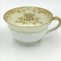 Noritake M China Olivia Cup ONLY Coffee Teacup Gold Rim Scroll Floral Japan DH - $24.95