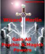 tjkm Wizard Merlin All Magick & Psychic Powers + Wealth BetweenAllWorld... - $139.34