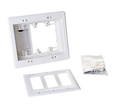 Arlington TVBU507-1 TV Box Recessed Outlet Wall Plate Kit, 3-Gang, White... - $25.88