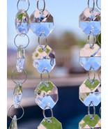 30' Long Octagon Acrylic Crystal Garland Strand Hanging Wedding Decor Trees - $25.99