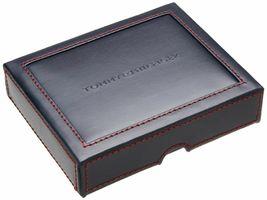 Tommy Hilfiger Men's Leather Credit Card Wallet Slim Trifold Black 31TL11X018 image 5