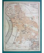 "1905 MAP Baedeker - SERBIA Belgrade Beograd Town Plan 6 x 8"" (15 x 20 cm) - $10.12"