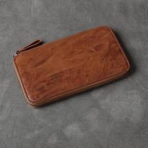On Sale, Full Grain Leather Long Wallet, Handmade Card Holder Wallet, Long Clutc image 1