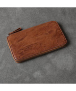 On Sale, Full Grain Leather Long Wallet, Handmade Card Holder Wallet, Lo... - $115.00