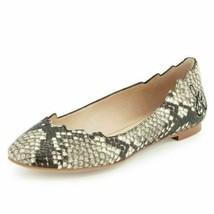 Sam Edelman Women Ballet Flats Augusta Size US 6.5M Beige Snake Print Leather - $47.20