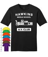 Hawkins AV Club Mens Gildan Funny T-Shirt New - $19.50
