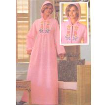 Vtg 70s Butterick 5164 Misses Long Sleeve Caftan Robe Hooded Embroidery ... - $8.95
