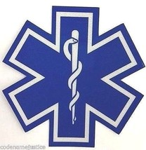 """Star Of Life 14"""" X 14"""" Highly Reflective Ambulance DECAL- Star Of Life Ems Decal - $36.75"""