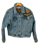 Harley Davidson Embroidered Cotton Denim Jean 20 years a H.O.G jacket Si... - $44.57