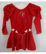 Red Velvet PAGEANT Costume Skirt Leotard Rhinestones Dance DRESS UP Smal... - $23.76