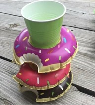 BigMouth Inflatable Pool Party Donut Drink Holder Float, 3-pack - NEW - $5.93