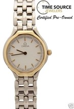 Omega Deville Quartz 23mm 18K Yellow Gold & Stainless Steel White Dial W... - $435.38