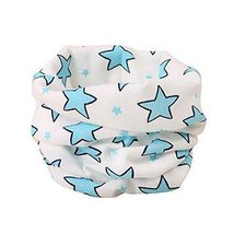 2PCS Beautiful Children's Warm Neckerchief Cotton O-Neck Scarves Cute Scarves
