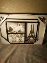"""EIFFEL TOWER PICTURE FRAME  """"""""MEMORIES""""""""  HOLDS TWO 6 X 4 PHOTOS--FREE S... - $24.48"""