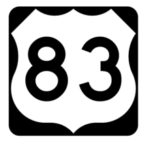 US Route 83 Sticker R1943 Highway Sign Road Sign - $1.45+