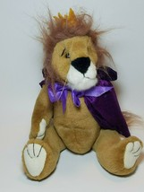 "TY King Lion 1993 Sire Purple Cape Yellow Crown Tags 12""  Jointed Plush Leo - $14.80"
