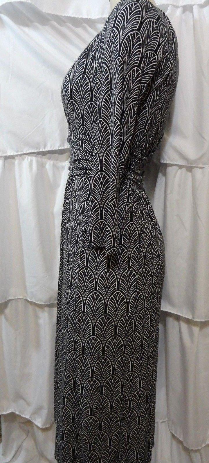 Maeve Women's Dress Mock Wrap 3/4 Sleeve SZ S Anthropologie