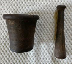Vintage CAST IRON Mortar & Pestle AWESOME SET! - $60.00