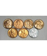 Lot of 7 Lincoln Wheat Cent Uncirculated Coins AG154 - $46.37