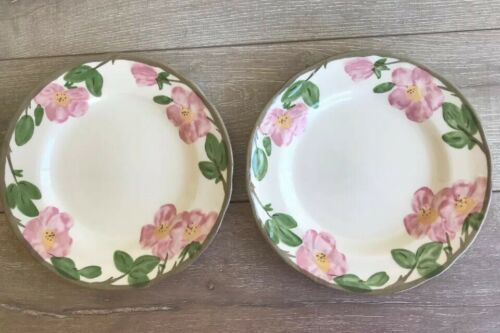 "Franciscan Desert Rose Dinner Plates Set 2 10 5/8"" Made in England 1995"
