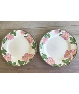 "Franciscan Desert Rose Dinner Plates Set 2 10 5/8"" Made in England 1995 - $36.62"