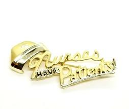 Vintage Gold Tone Nurses Have Patients! Nurse Hat Brooch Pin Hospital Nursing... - $11.14