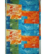 Superman Splash Fleece Fabric Hundred Percent Polyester Two and One Half... - $39.47