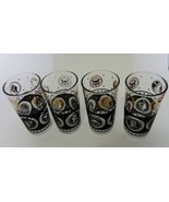 Hazel Atlas Continental Can Company Black Gold Tumblers Glasses World Co... - $19.68