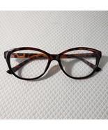 New Betsey Johnson +1.50 Cat Eye Reading Glasses Brown Tortoise Pinup Retro - $37.09