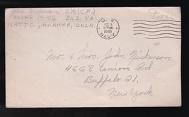 WWII MILITARY FREE MAIL U.S. NAVY OCTOBER 6 1945 WITH LETTER JOHN NICKERSON - $5.88